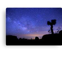 Milky Way Morning in Joshua Tree  Canvas Print