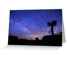 Milky Way Morning in Joshua Tree  Greeting Card