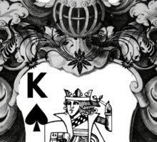 Poker King Spades black and white Sticker