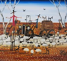 The Outback Traffic Jam by PETER BROWNE