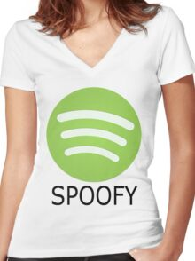 Spoofy Women's Fitted V-Neck T-Shirt