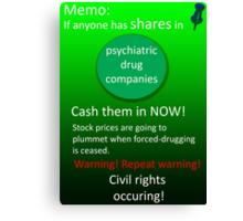 Shares warning! Canvas Print