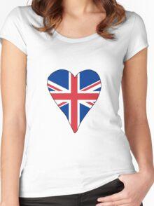 I Heart United Kingdom Women's Fitted Scoop T-Shirt