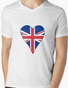 I Heart United Kingdom Mens V-Neck T-Shirt