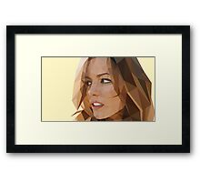 Low Poly Kate Beckinsale Framed Print