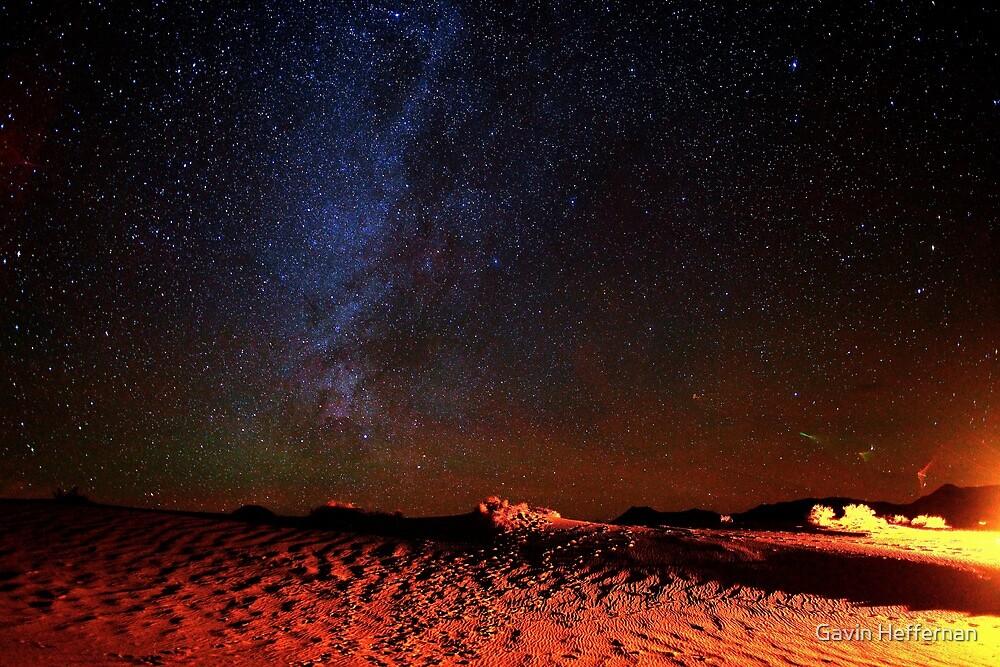Stars Galaxy Sky over Death Valley Desert Sand by Gavin Heffernan