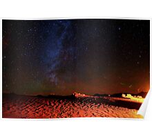 Stars Galaxy Sky over Death Valley Desert Sand Poster