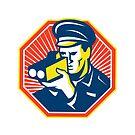 Policeman Police Officer Speed Camera Radar by retrovectors