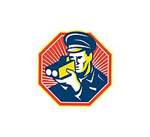 Policeman Police Officer Speed Camera Radar Photographic Print