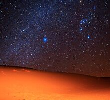 Starscape Over Death Valley Sand Dunes by Gavin Heffernan