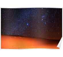Starscape Over Death Valley Sand Dunes Poster