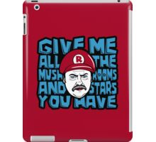 Give me all the Mushrooms and Stars you have iPad Case/Skin