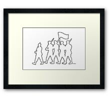 Marching Ants Framed Print