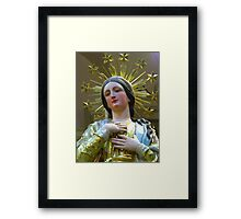 Our Lady of the Lilies Framed Print