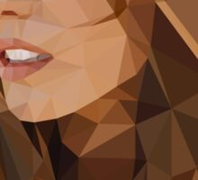 Low Poly Kate Beckinsale Sticker