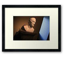 George Washington Dark Blue Framed Print