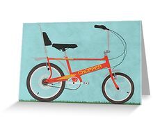 Chopper Bike Greeting Card