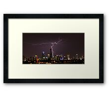 Lightning over Melbourne Framed Print
