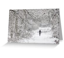 Disappearing into January Greeting Card