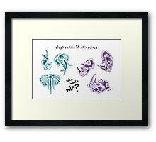 elephantitis Vs rhinovirus Framed Print