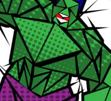 Abstract Smash! Sticker