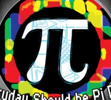 Pi Day Oval Design Sticker