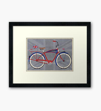 British Bicycle Framed Print
