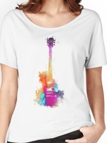 Funky colored guitar Women's Relaxed Fit T-Shirt