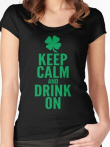 Keep Calm and Drink On Women's Fitted Scoop T-Shirt