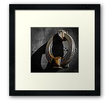 Big beautiful doorknocker on entrance door of Castel Sant'Angelo Framed Print