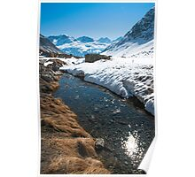Dazzling Stream on the Julier Pass Poster