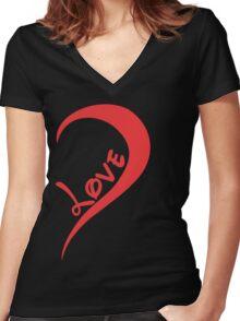 One Love Left Women's Fitted V-Neck T-Shirt