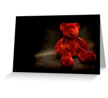 Red Teddy Greeting Card