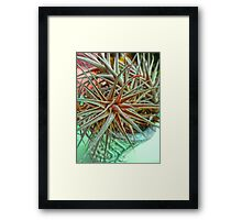 Air spike red Framed Print
