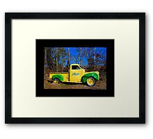 Finks Country Farm Old Truck - Wading River, New York Framed Print