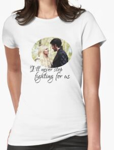 Captain Swan + quote Womens Fitted T-Shirt