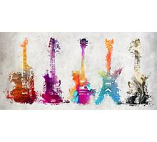 5 guitars Photographic Print