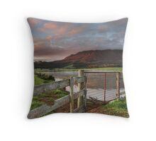 Mount Roland Sunrise Throw Pillow