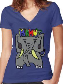 MAMUT Women's Fitted V-Neck T-Shirt
