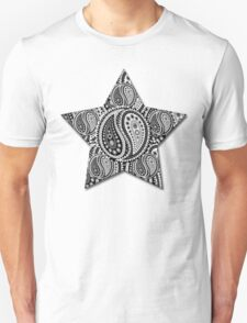 Paisley Yin Yang Star T-Shirt