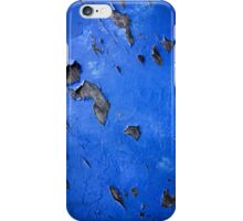Blue old vintage grunge style iPhone Case/Skin
