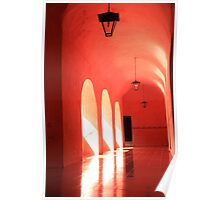 Sunlit Pink Arches  Poster