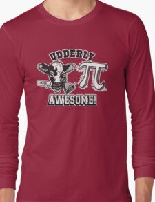 Funny Cow Pie Pi Long Sleeve T-Shirt