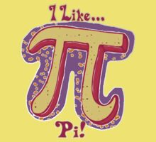 I Like Pi Pink Yellow by MudgeStudios