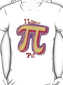 I Like Pi Pink Yellow T-Shirt