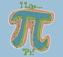 I Like Pi Blue Orange by MudgeStudios