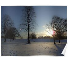 Winter snow in the park, Heaton Park Poster