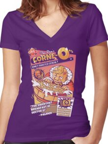 Don Corne-O's Women's Fitted V-Neck T-Shirt