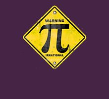 Warning Pi is Irrational Womens Fitted T-Shirt