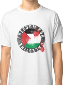 Free Palestine, with bloody Palestinian Flag Classic T-Shirt